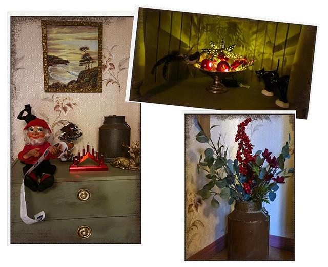 Julpynt i hallen