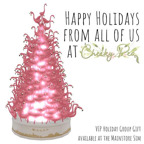 Cheeky Pea - Festive Flamingo Tree Group Gift