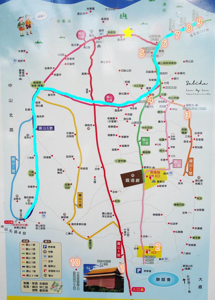 台北劍潭山步道老地方觀機平台地圖怎麼走路線圖攻略小百岳基石在哪