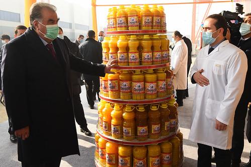 Ифтитоҳи корхонаи истеҳсолии равғани пахта дар шаҳри Душанбе  24.12.2020