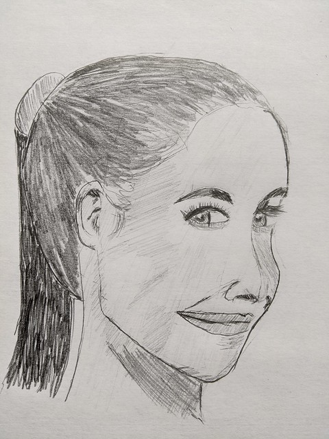 woman in ponytail