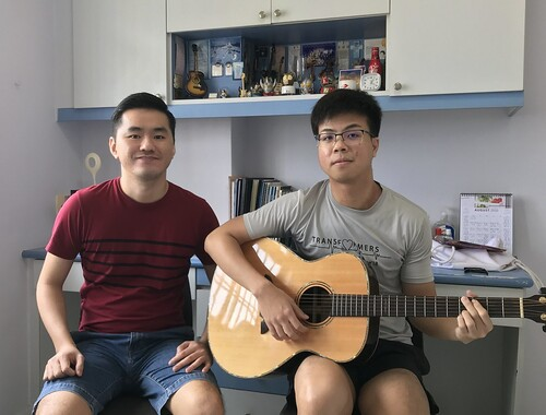 Private guitar lessons Singapore Daniel