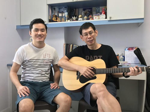 Private guitar lessons Singapore Mr Tong