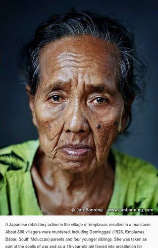 Dominggas, slachtoffer Japanse leger gedwongen prostitutie (Emplawas, Babar).