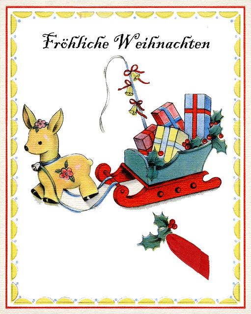 Alte Karte - Fröhliche Weihnachten