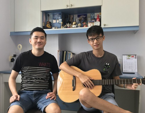 Adult guitar lessons Singapore Wei Jie