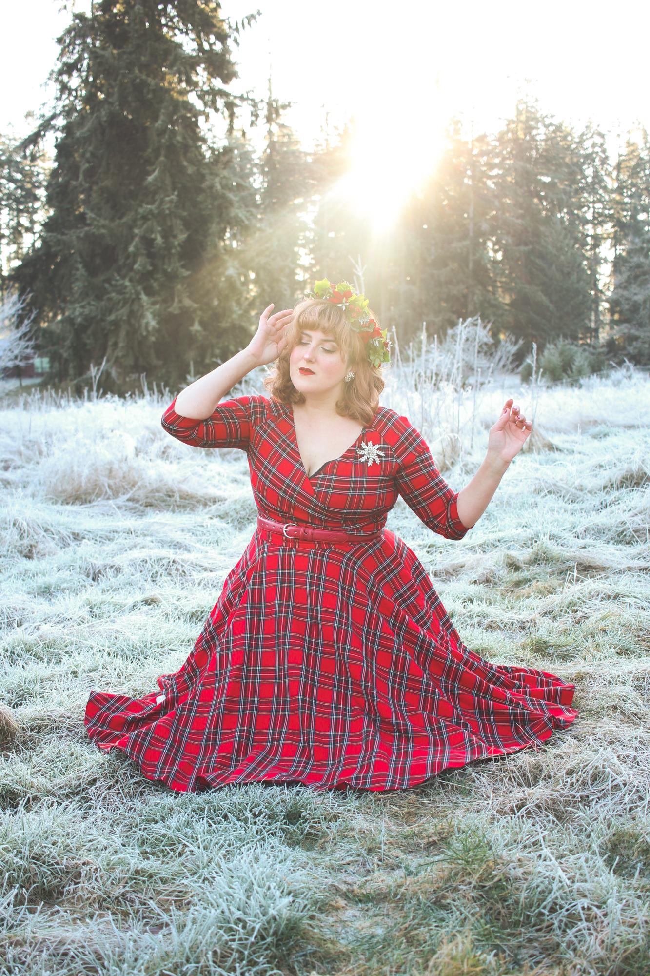 The Pretty Dress Company Tartan Dress -- Christmas Eve Outfit