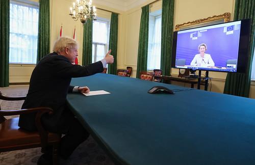 Boris Johnson speaks to eu President
