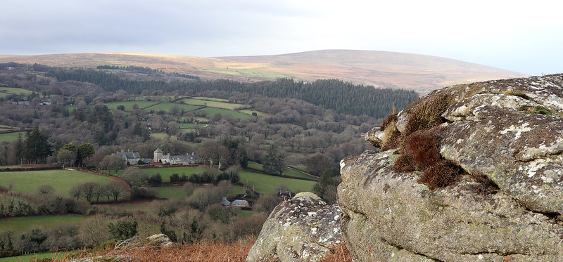View to Cosdon Hill from Tunnaford Rocks
