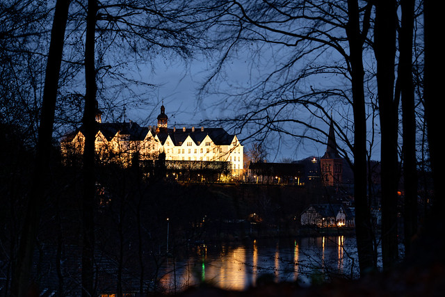 Plön Castle at Christmas Eve