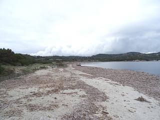 Plage de l'étang de Piantarella : la plage