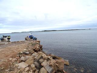 Arrivée vers l'embarcadère de Piantarella