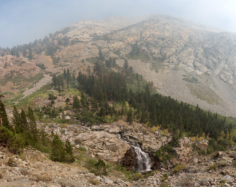 Waterfall on Woods Creek as we continue north on the Pacific Crest Trail