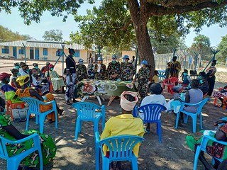UNMISS peacekeepers sensitize local women in South Sudan on COVID-19 | by United Nations Peacekeeping