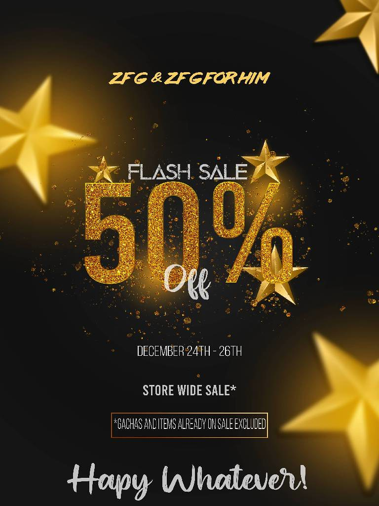 ZFG AND ZFG FOR HIM CHRISTMAS FLASH SALE