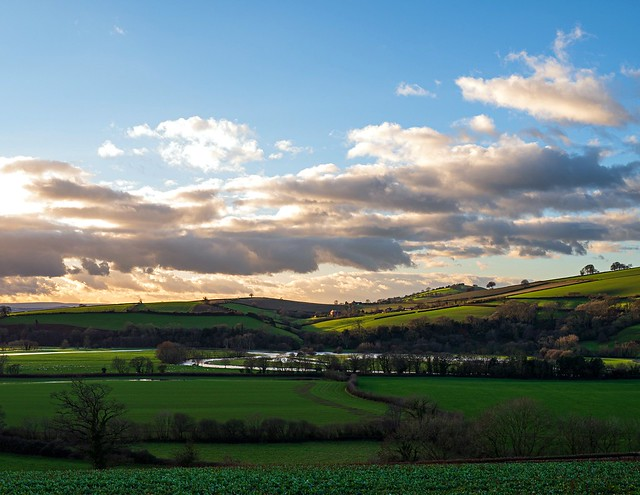 Exe Valley on Christmas Eve.