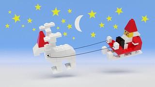1628 Santa with Reindeer and Sleigh by Steven Reid, on Flickr