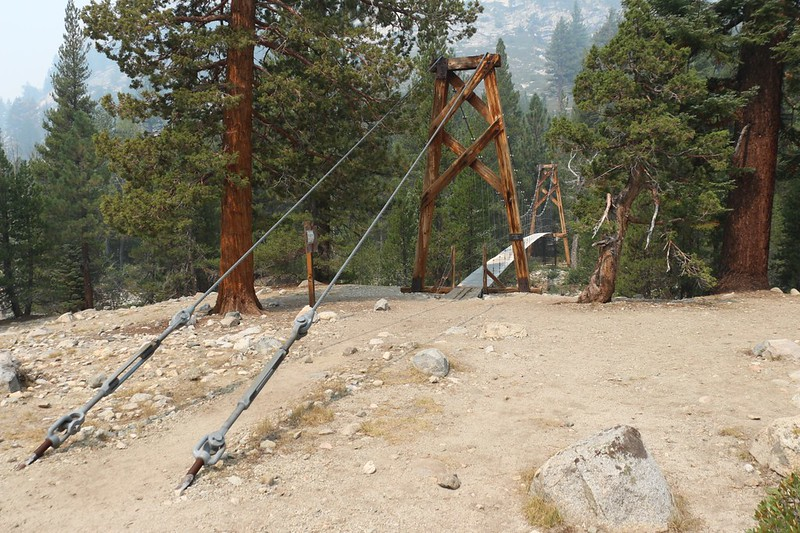 The Suspension Bridge over Woods Creek on the John Muir Trail - Pacific Crest Trail