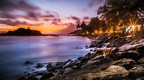 asia srilanka mirissa beach sunset sea waves sony longexposure sonyα6300 sonyepz18105mmf4goss