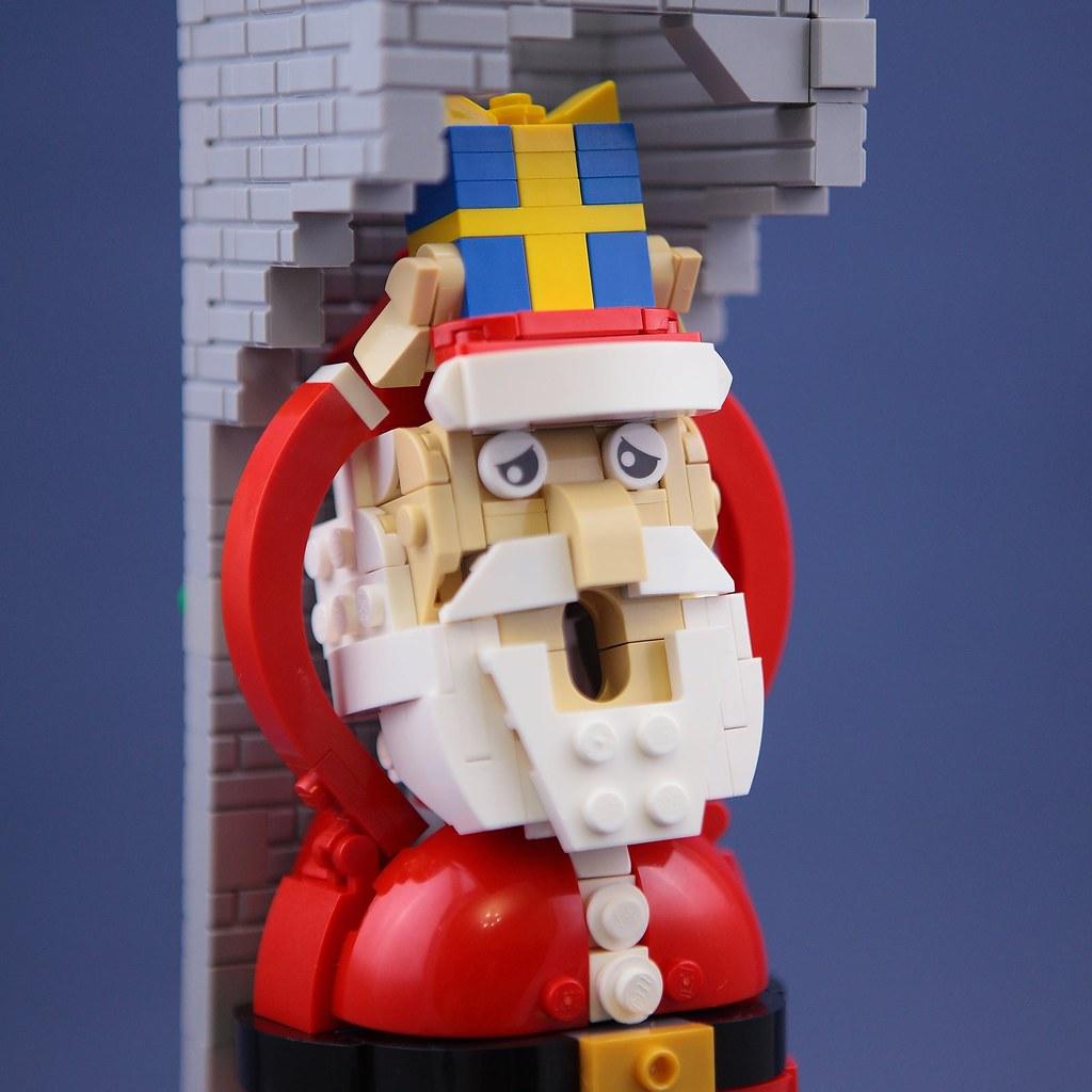 DOGOD Brick Design 狗神磚創 樂高 MOC 作品【聖誕老人!你弄破我的煙囪了!】