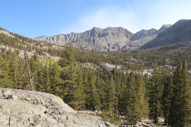 Looking east toward Sawmill Pass and Woods Peak from our campsite on the Pacific Crest Trail