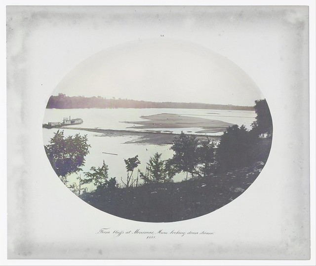 Henry P. Bosse (American, born Germany, 1844–1893), No. 34. From Bluffs at Merrimac, Minnesota Looking Down Stream_colorSAI_result