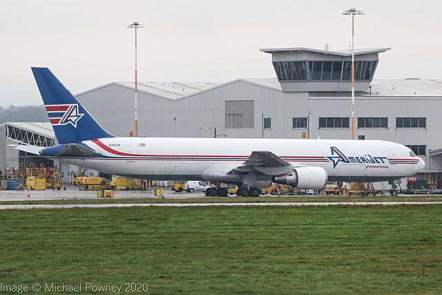 N316CM - 1988 build Boeing B767-338ERBDSF, parked at Cargo West at East Midlands