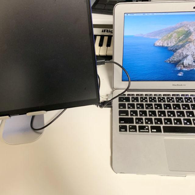 MacBook Airと有線接続