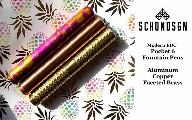 Modern Everyday Carry Schon Dsgn Pocket 6 Fountain Pen