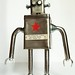 Red star recycled robot