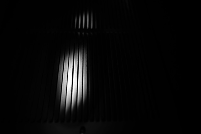 Minimal black and white interior shot