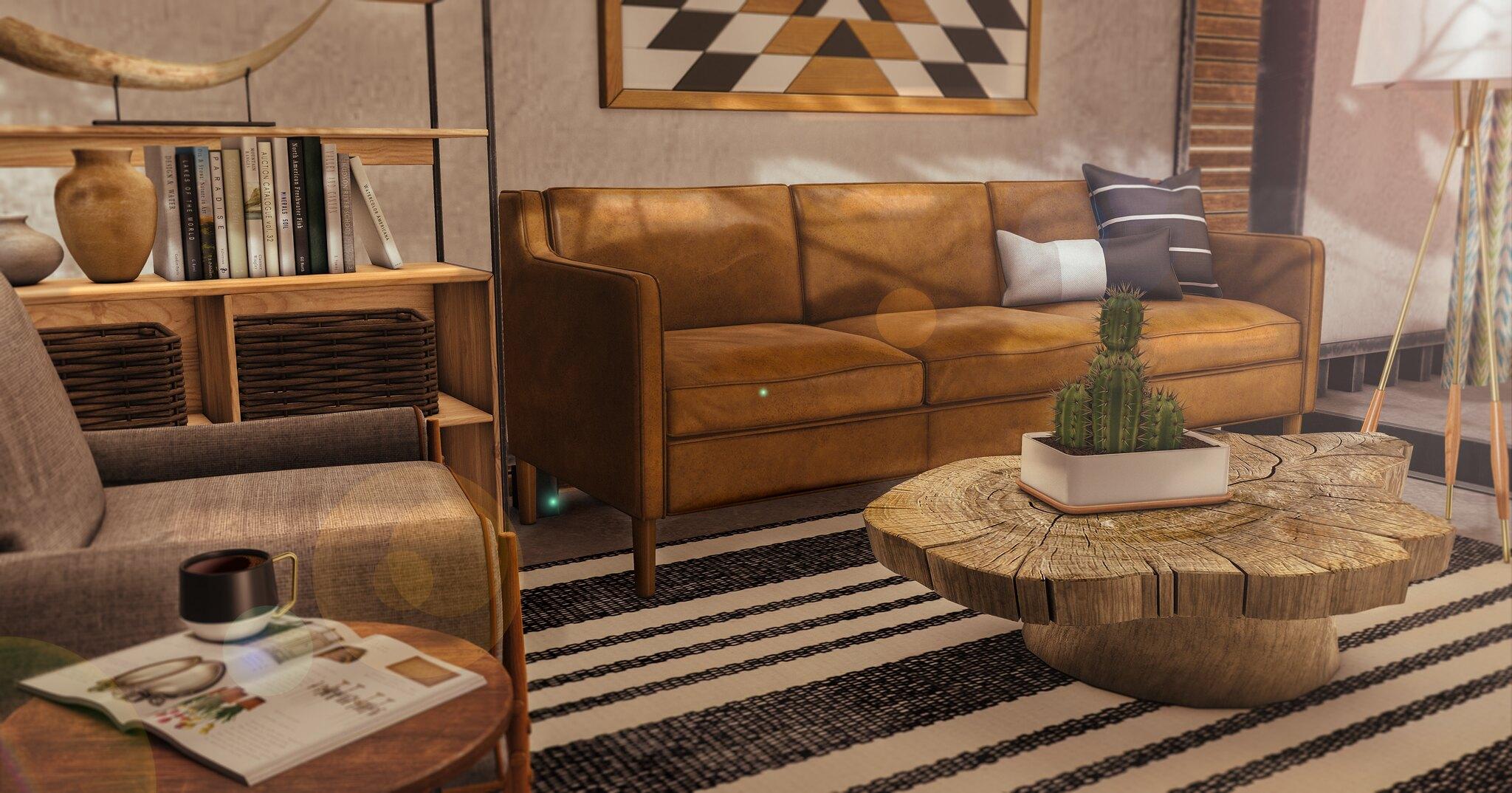 Glamorous Furniture//Indigo by Fancy Decor