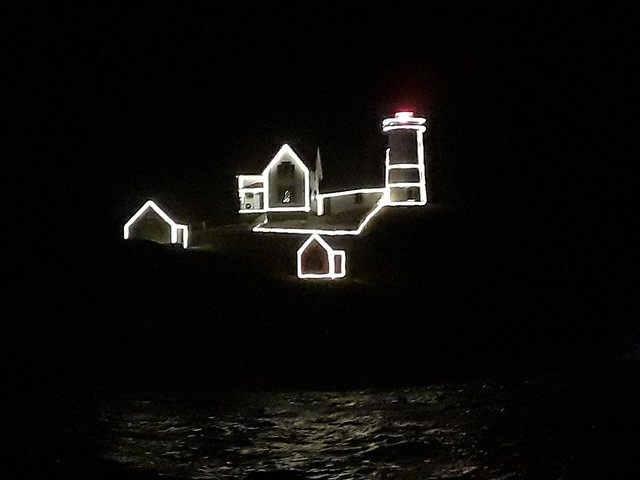 Nubble Light Christmas Eve