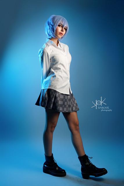 Kawaii Demon as Rei Ayanami from Neon Genesis Evangelion, by SpirosK photo. (II:School-girl universe)