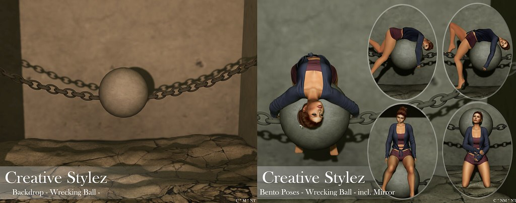 Creative Stylez - Backdrop & Poses - Wrecking Ball -