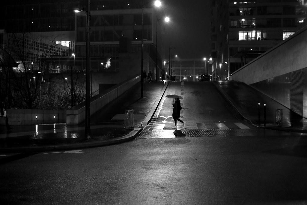 The night silhouette