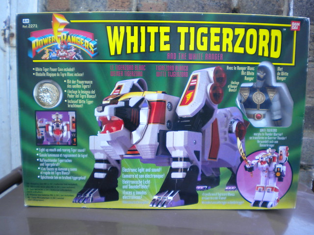 Vintage 1990's Boxed Power Rangers White Tigerzord