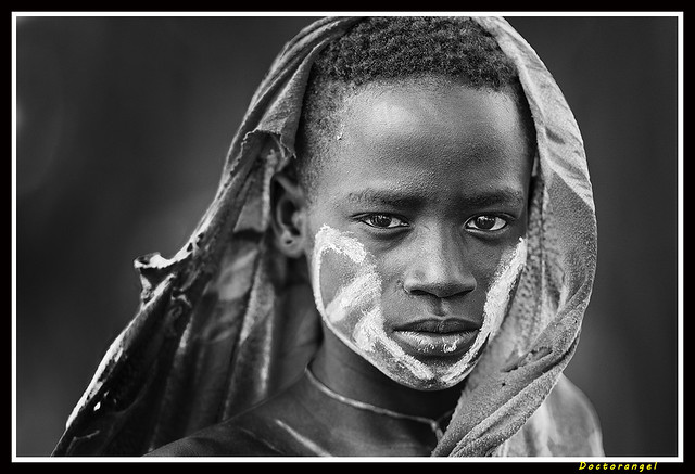 Muchacho Mursi. Rio Omo. Etiopia