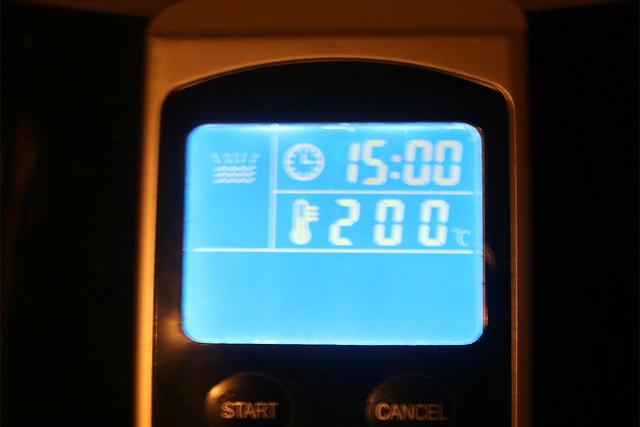 13 - Fifteen minutes at 200 degrees / Viertelstunde bei 200 Grad