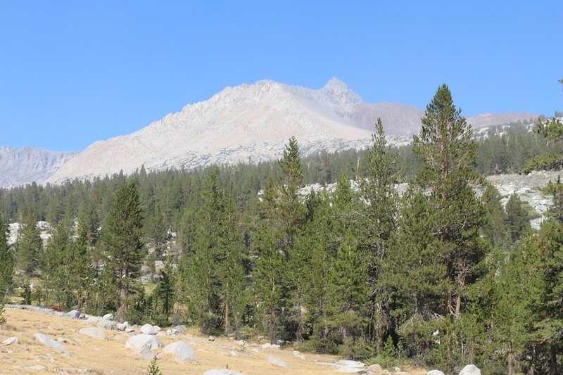 Split Mountain (14065 feet elevation) was in the northeast as we continued up the South Fork Kings River
