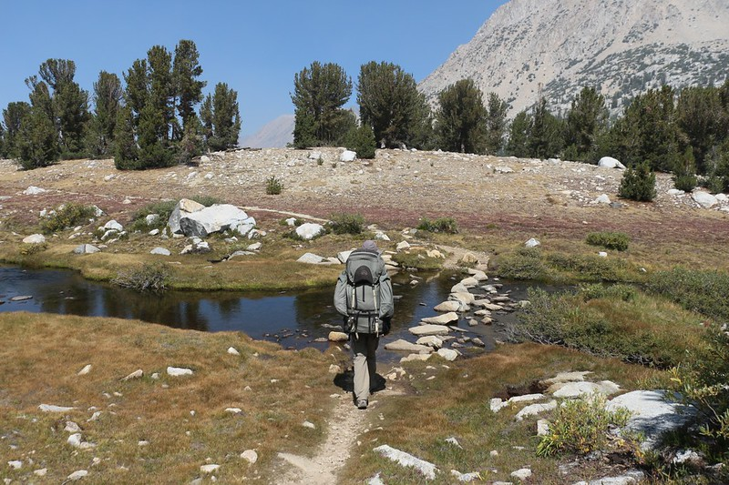 This late in the Summer the stream crossings on the Pacific Crest Trail were very easy to navigate
