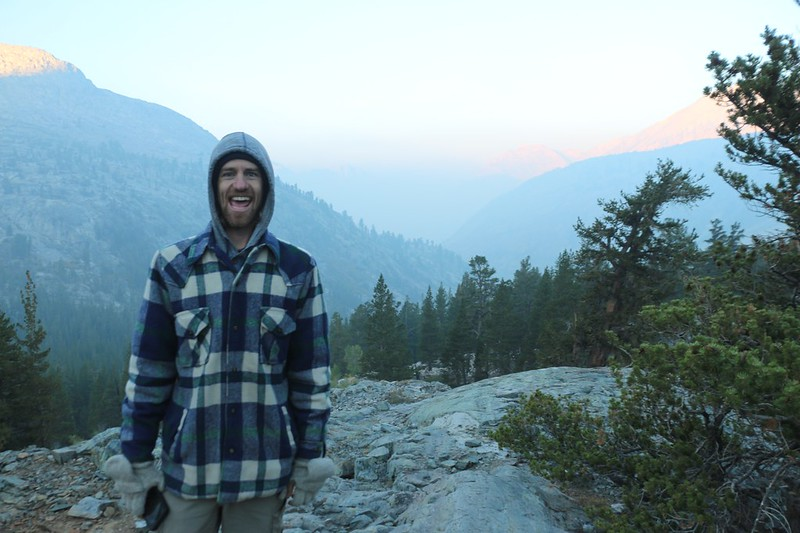 There's still smoke to the south down the Woods Creek Valley, but luckily we'll be heading north on the PCT