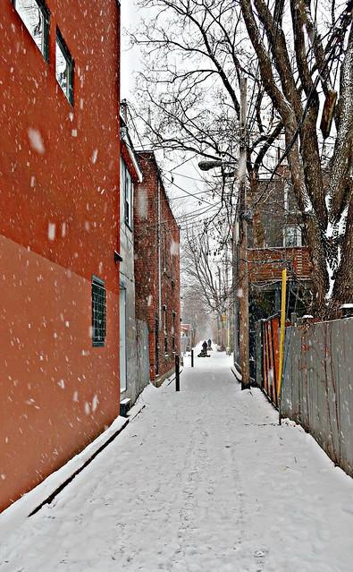 Tombe la neige, tu ne viendras pas ce soir, tombe la neige, tout est blanc de désespoir