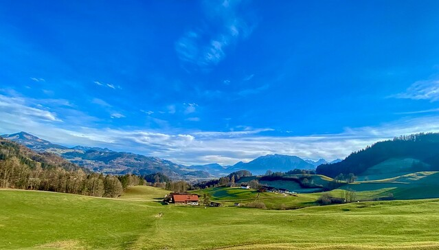 Panorama landscape near Oberaudorf in Bavaria, Germany