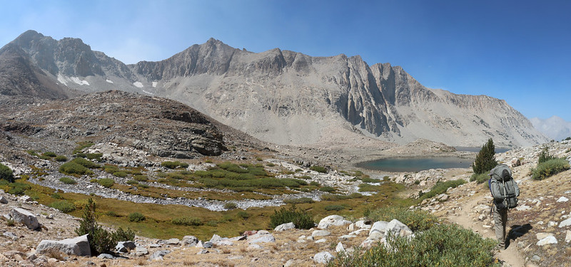 Mount O'Burley and Ickes Northeast Summit from the Pacific Crest Trail as we head north from Pinchot Pass