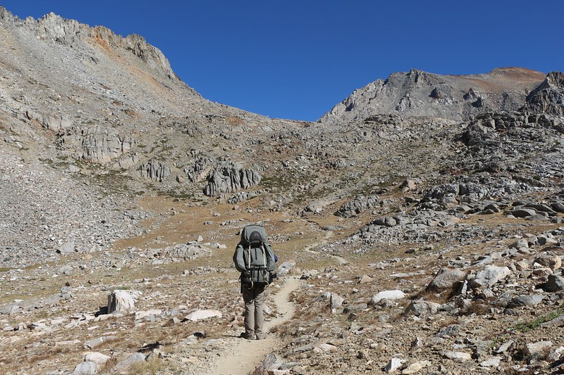 Pinchot Pass is just ahead of us - now all we have to do is climb all the way up there