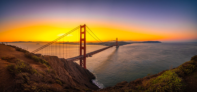 Golden Gate Bridge Battery Spencer Solstice Sunrise California Fine Art Fuji GFX100 Landscape Photography! Ocean Art Seascape!  Elliot McGucken Master Medium Format Landscape Nature Photography Fuji GFX 100 & Laowa 17mm f/4 Ultra-Wide GFX Zero-D Lens GF