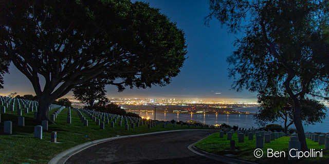 #SanDiego From Fort Rosecrans At Night #Photography