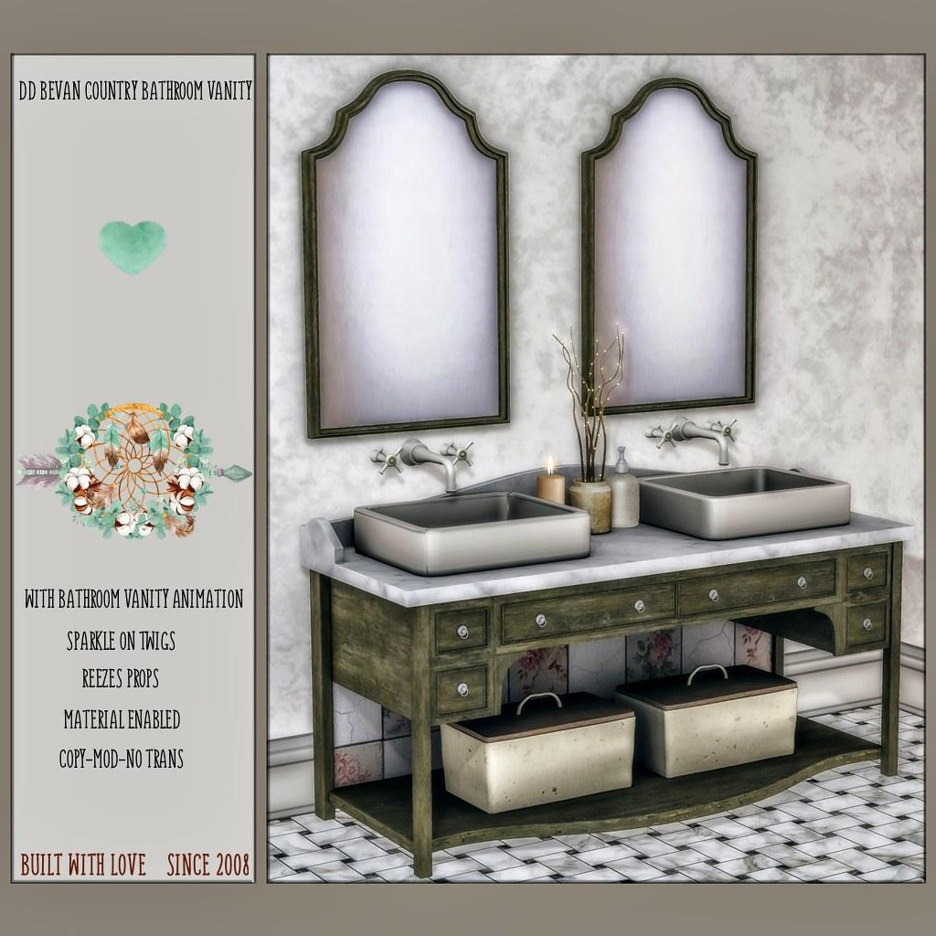 DD Bevan Country Bathroom Vanity AD