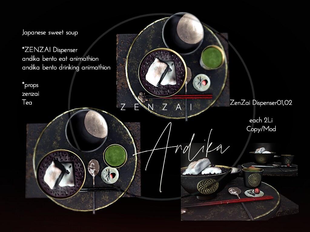 andika ZENZAI Dispenser Set For japonica